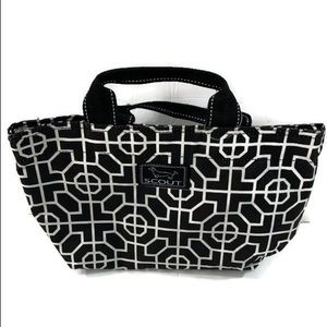 scout black and white lunch bag